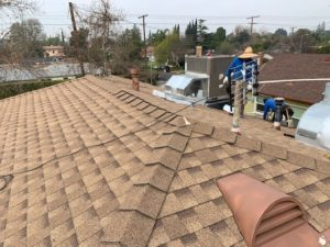 Shingle roof we installed in North Hollywood in 2019