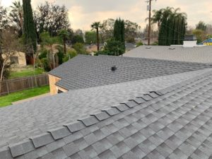 Image of a shingle roof we installed on new construction in 2019