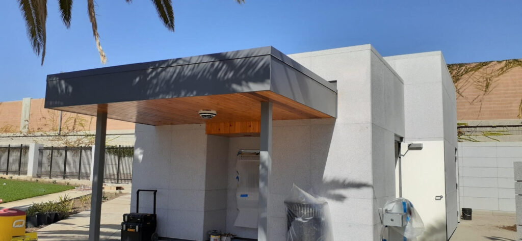 A metal, commercial roof we installed in Los Angeles in 2020